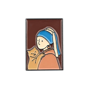 Famous Oil Paintings Enamel Pin Set - Pinovations