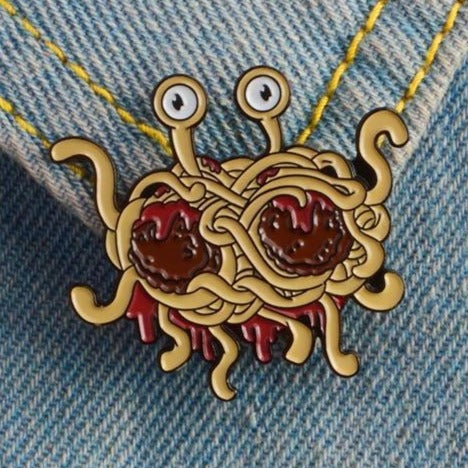 Flying Spaghetti Monster Pin - Pinovations