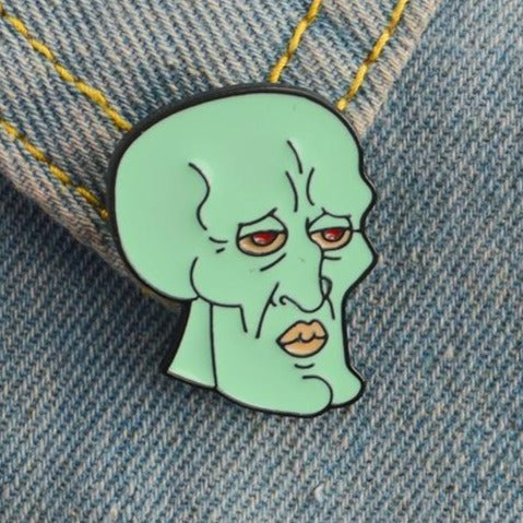 Handsome Squidward Pin - Pinovations