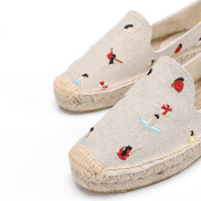 Load image into Gallery viewer, Espadrilles Flat Shoes Women