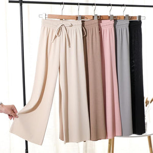 ice silk wide-leg pants