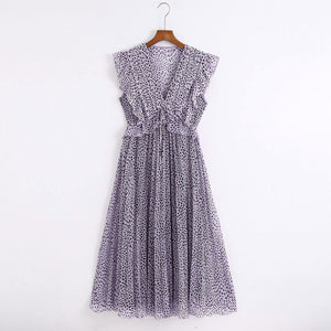 Print Pleated zaraing women Dress