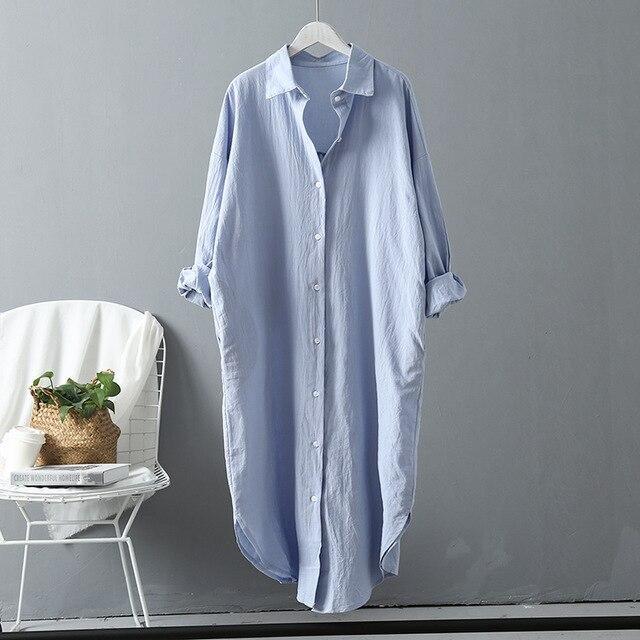 Long Sleeve Long Shirt Dress