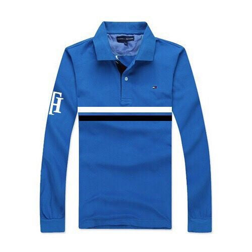 2001d92c1 Tommy Hilfiger Male Striped Long Sleeve Polo shirts - Royal Blue ...