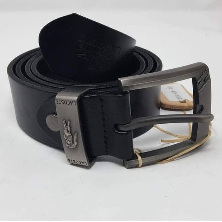 d5f0bfd68356bf Lacoste black male original leather Belt – Ripo.com.ng