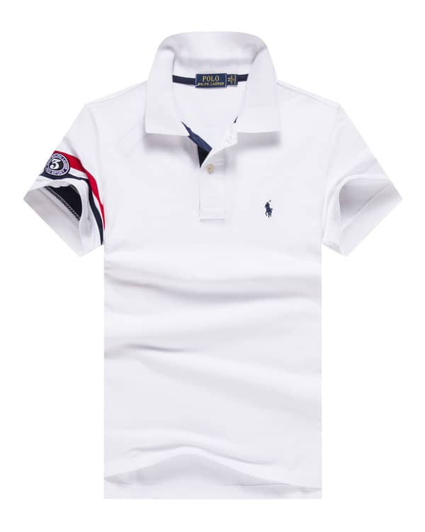 Small Pique Slim Pony Polo White Lauren Fit Ralph 7gbfYy6