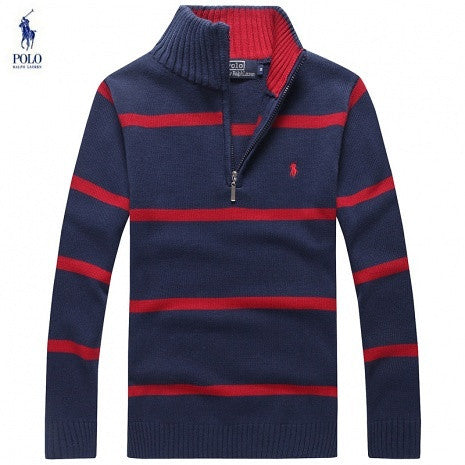 Lauren Blue Polo Stripes Sweater And Navy Ralph Grey cjLAqR354