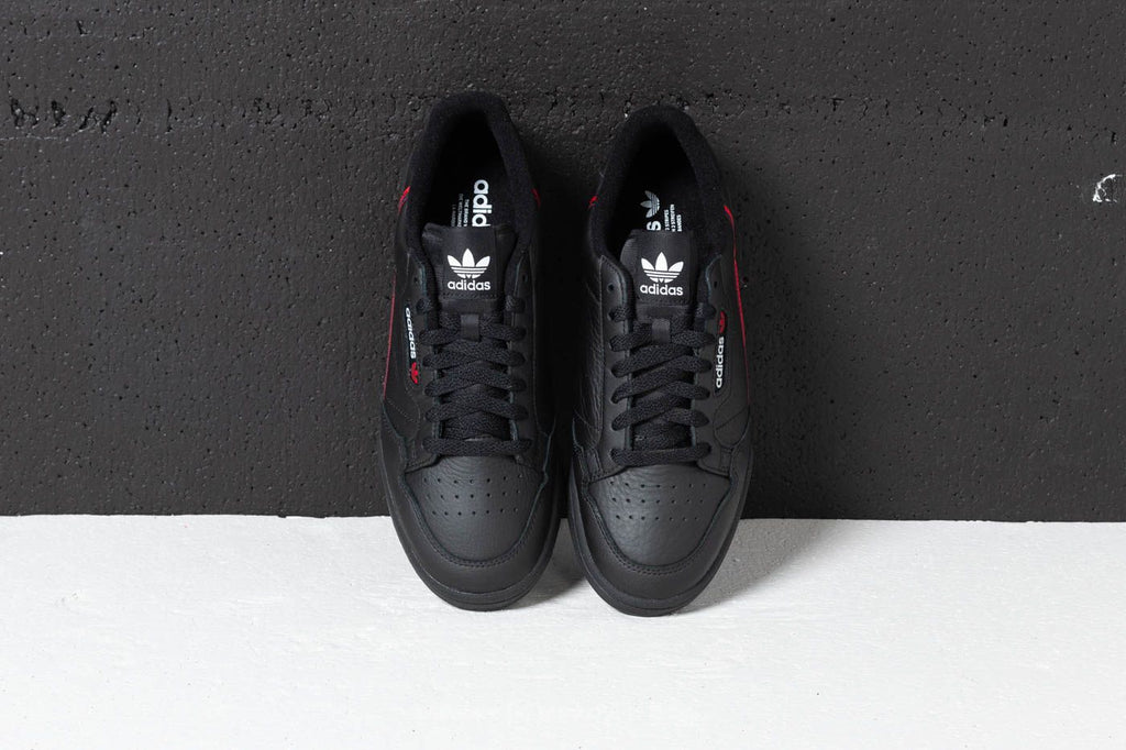 on sale fdbfa f11b3 ADIDAS CONTINENTAL 80 CORE BLACK   SCARLET  COLLEGIATE NAVY