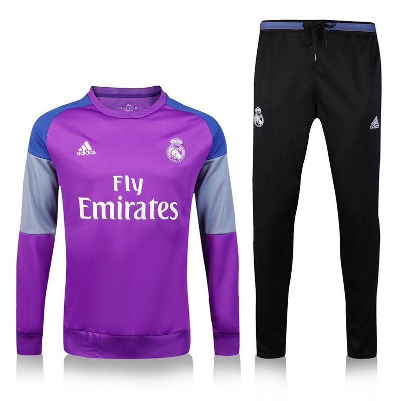 purchase cheap 8e0ad dcd4d REAL MADRID PURPLE-BLACK TRACKSUIT