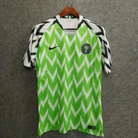 detailed look a09a7 85a12 2018 Nigeria Home Soccer Jersey