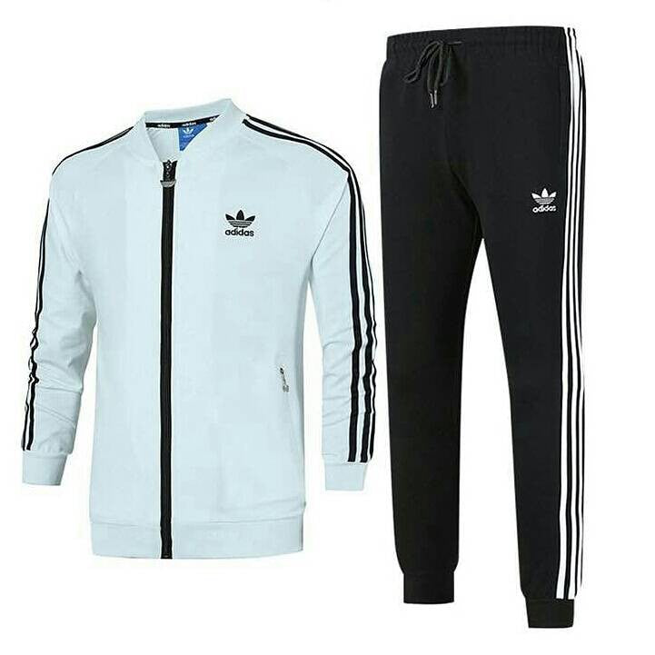 top brands lowest discount retail prices Adidas Tracksuit White Black