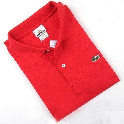 5c9f2768 RED MEN LACOSTE POLO
