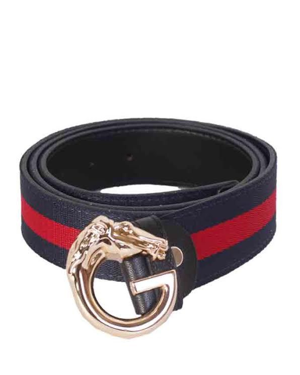 bee24d72402c4 Gucci Bee With Gold Horse Head Buckle Belt Deep blue and Red Stripe –  Ripo.com.ng
