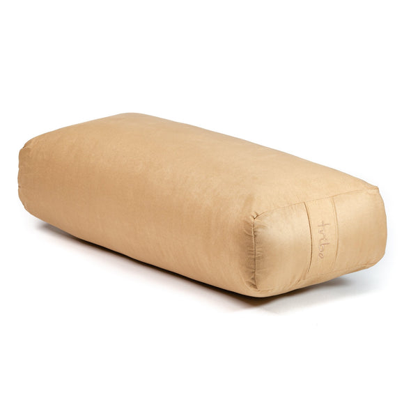 Rectangular Bolster - Taupe - 45 degrees angle | TRIBE Yoga