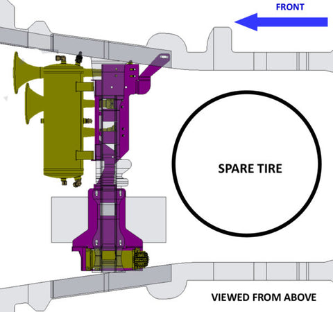 Image of 2007-2019 Tundra Direct Fit Onboard Air System and 230 Train Horn