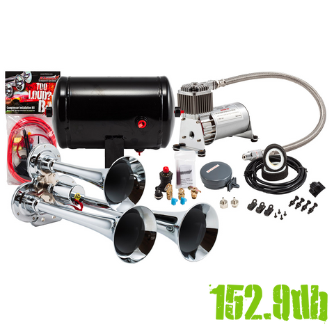 Model HK3 Chrome Triple Air Horn Kit