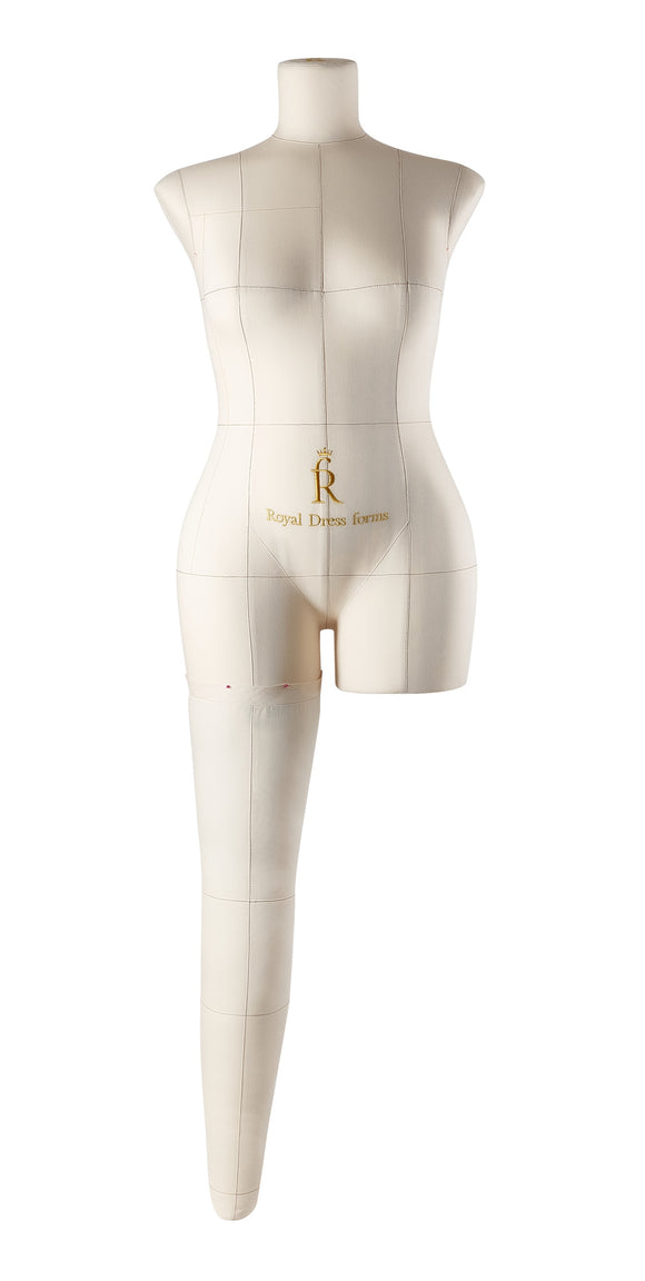 Soft Fully Pinnable Right Leg For Female Mannequin MONICA Beige size M