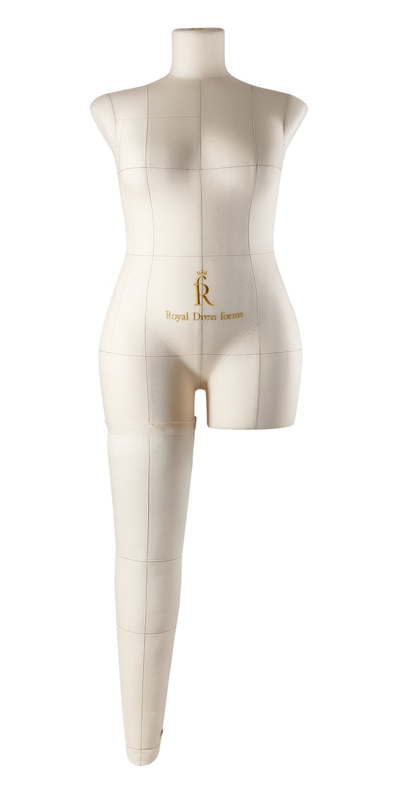 Soft Fully Pinnable Right Leg For Female Mannequin MONICA Beige size XL