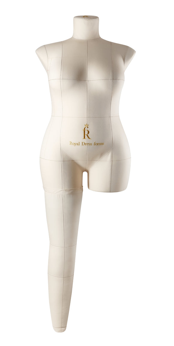 Soft Fully Pinnable Right Leg For Female Mannequin MONICA Beige size XXXL
