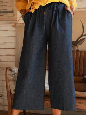 Denim Blue Holiday Denim Shift Pants
