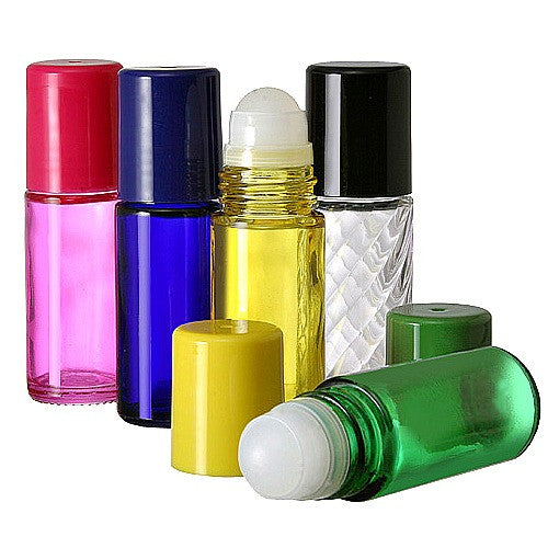 30ml Glass Roll On Bottles, Clear Rollerball, Matching Bottle Caps,