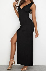 Super Sexy Elegant High Split Maxi Dress