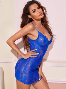 Super Cute lace Bright Royal Blue Babydoll