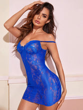 Load image into Gallery viewer, Super Cute lace Bright Royal Blue Babydoll