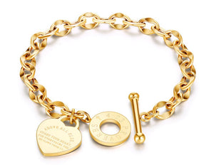 Stylish Stainless Steel Charm Bracelets