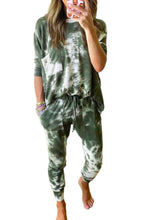 Load image into Gallery viewer, Beautiful Green Tie-Dye Pajama Set