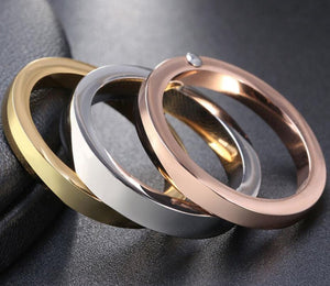 Beautiful Fashion Stainless Steel Three Ring Set