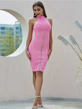 Load image into Gallery viewer, Amazing Elegant And Flattering Pink Halter Dress