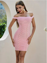 Load image into Gallery viewer, Elegant And Flattering Pink Dress