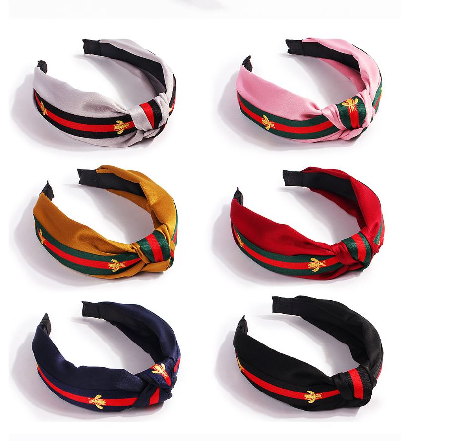 Super Cute Satin Striped Fashion Hairband