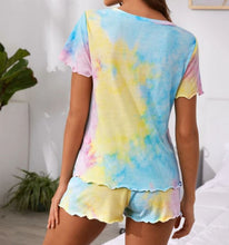 Load image into Gallery viewer, Charming Tie-Dye Two Pieces Pajama Short Set