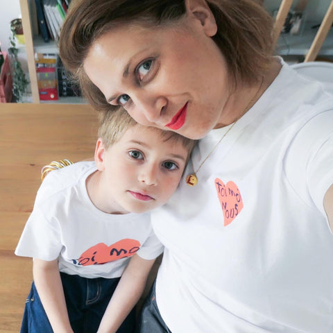 @bypaulette photo maman enfant tee-shirt bonnefamilles