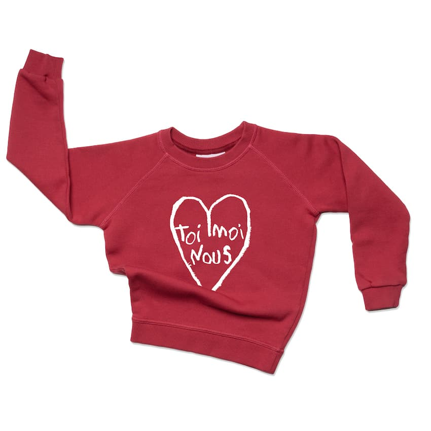 sweat-coton-bio-mixte-enfant-rouge- coeur-toi-moi-nous-pull-mode-responsable-slow-fashion