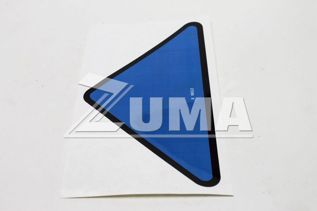 DECAL,TRIANGLE,BLUE (Genie Part # 27206GT OR 27206)