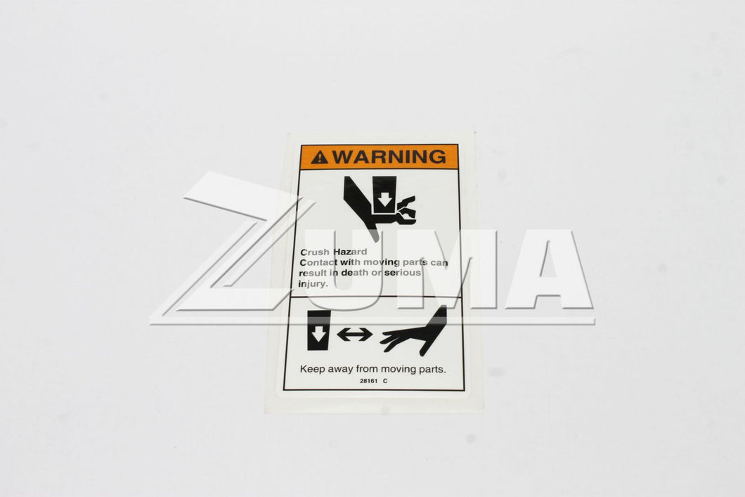 DECAL,WARN,CRUSH HAZARD HAND (Genie Part # 28161GT OR 28161)