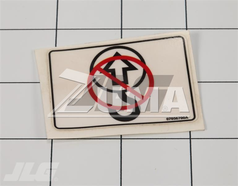 STICKER (JLG Part # 07056700)