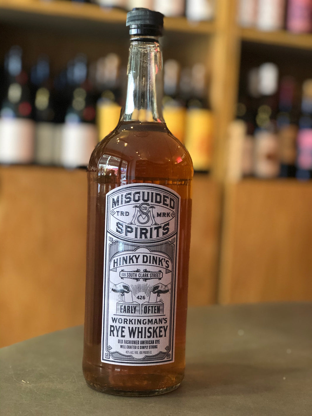 Misguided Spirits, Rye Whiskey - Hinky Dink's Workingman's
