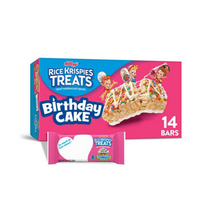 Birthday Cake Rice Krispies Treats - Soflo Snacks