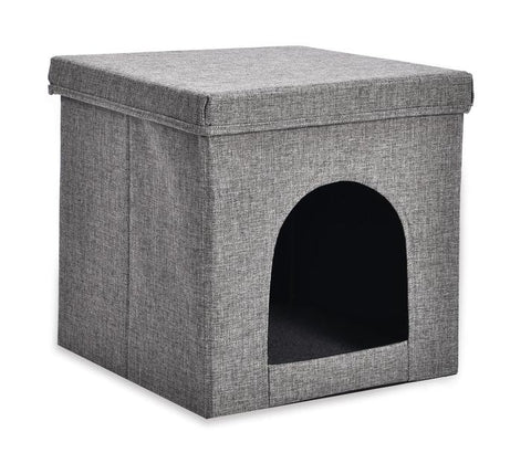 """The Simple Box Hideaway"" Cat Bed Box"