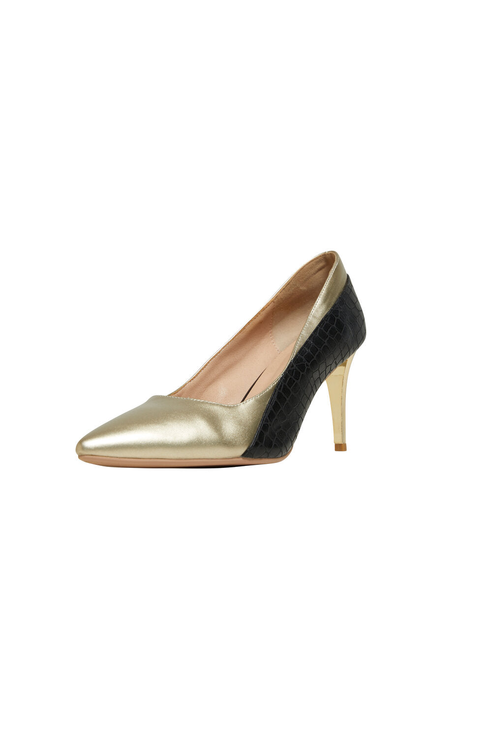 Bardot - Black and Gold Pump