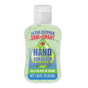 Hand Sanitizer with Aloe Vera - 6pk Family Set | Ultra Defense Sani+Smart