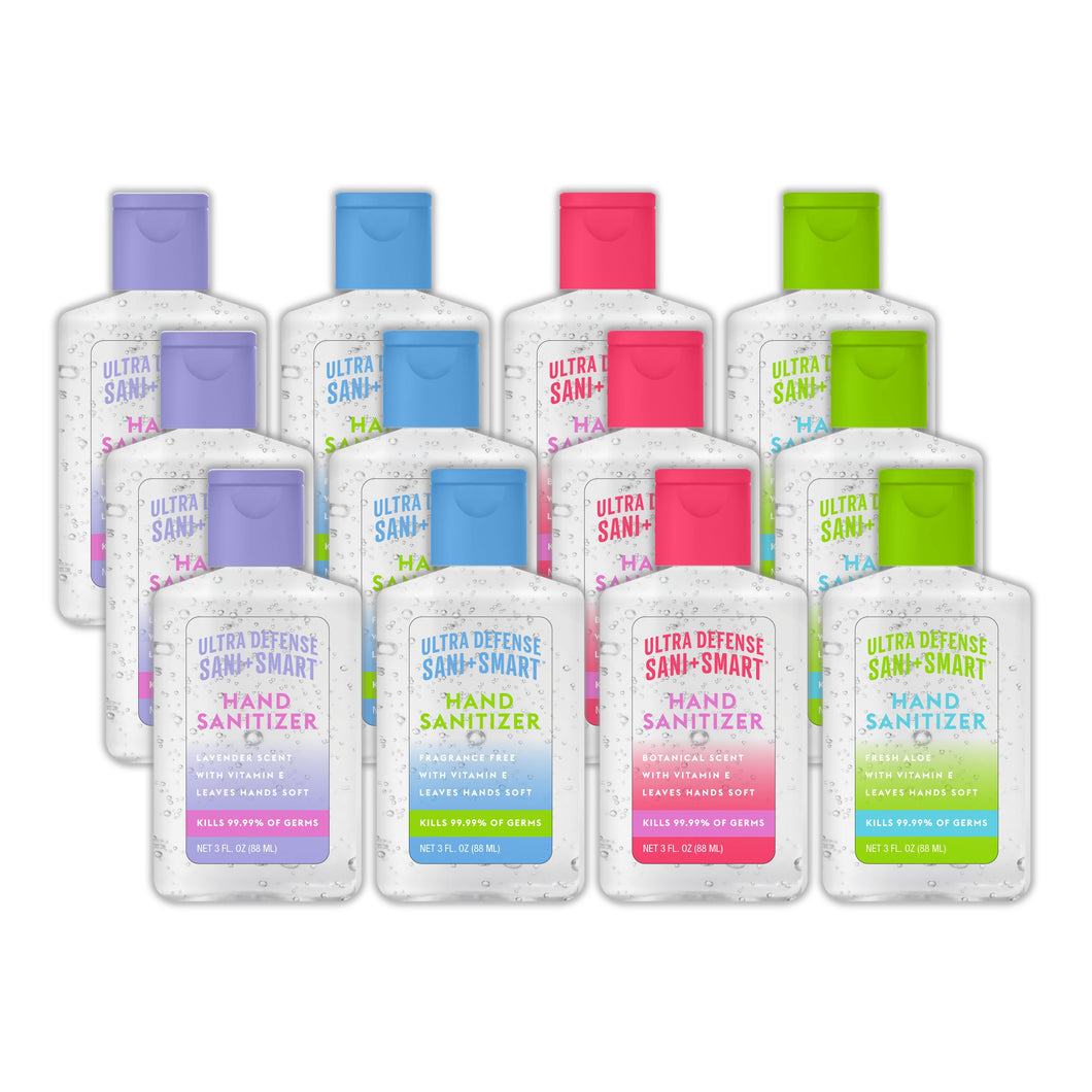 Hand Sanitizer Fragrance Series 3 fl oz - (12pk)  Ultra Defense Sani+Smart