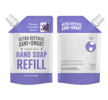 Load image into Gallery viewer, Ultra Defense Sani + Smart Foaming Hand Soap Refill For Touchless Dispenser - Lavender Scented