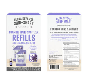 Ultra Defense Sani + Smart Foaming Hand Sanitizer Refill For Touchless Dispenser - Lavender Scented