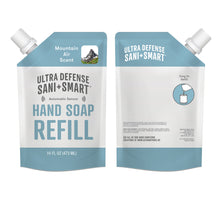 Load image into Gallery viewer, Ultra Defense Sani + Smart Foaming Hand Soap Refill For Touchless Dispenser - Mountain Air