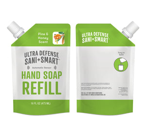 Ultra Defense Sani + Smart Foaming Hand Soap Refill For Touchless Dispenser - Pine & Honey